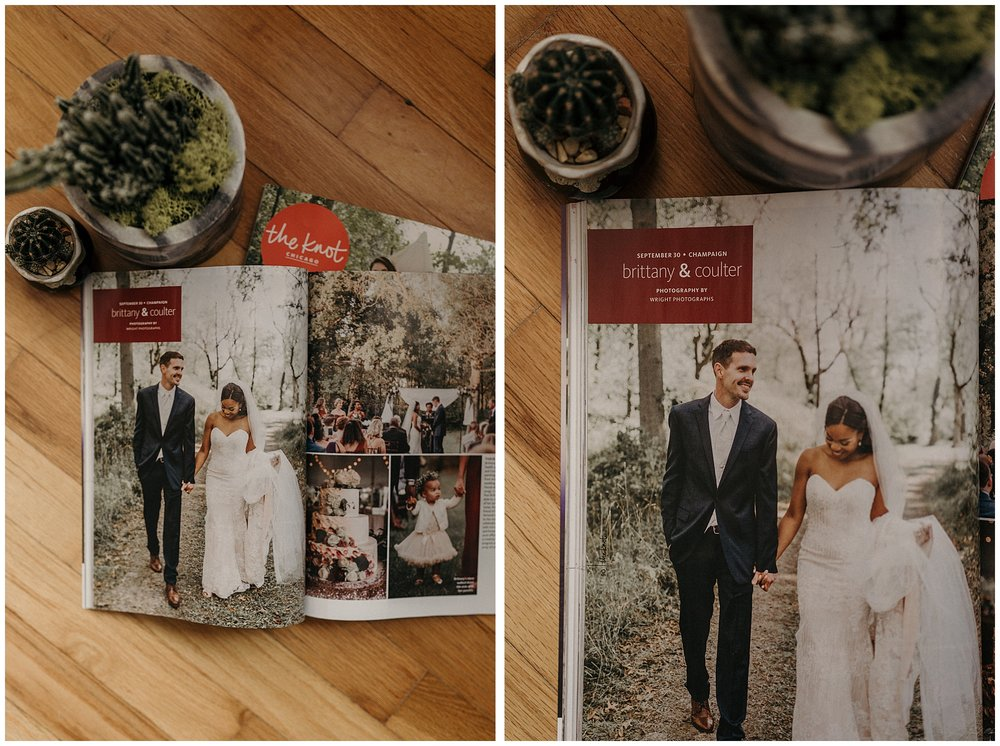 Wright Photographs featured in The Knot Chicago Magazine