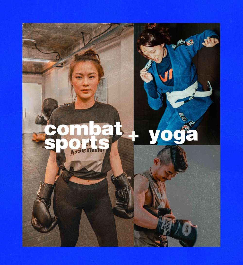 2.UNLIMITED COMBAT SPORTS+ YOGATRIAL PACK$99 / Unlimited Sessions - this is your next upgrade. become an undercover muay thai ninja. learn to grapple in brazilian jiu-jitsu. sharpen your mental sword with yoga.unlimitedMUAY THAIBRAZILIAN JIU-JITSU& YOGAon your first monthno contracts, no commitments.high stakes leisure, the field assembly way.↓ tap to purchase now