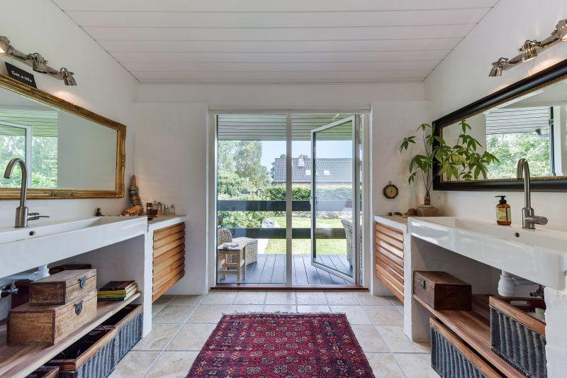 Det nye badeværelse fik blandt andet opmurede badmoduler