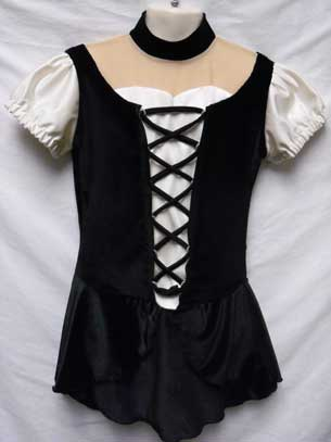 a278d657fb Black and white lace up test - competition dress