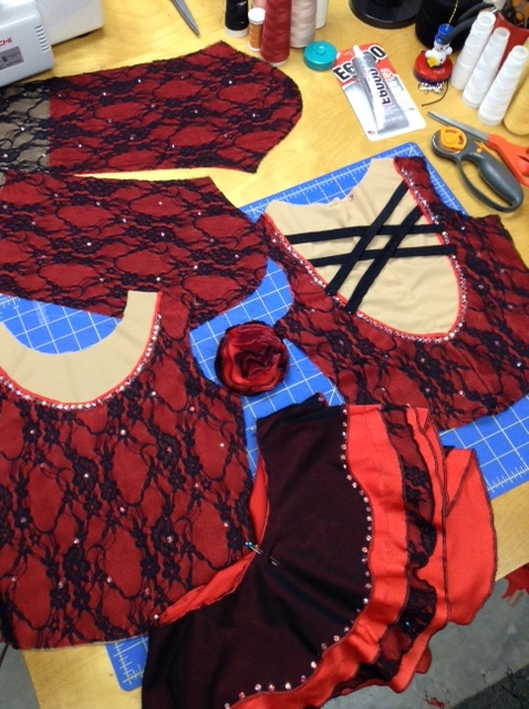 Spanish Details red and black dress for Madiosn.JPG
