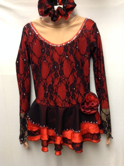 Madison's red and black Spanish outfit from 2017.JPG