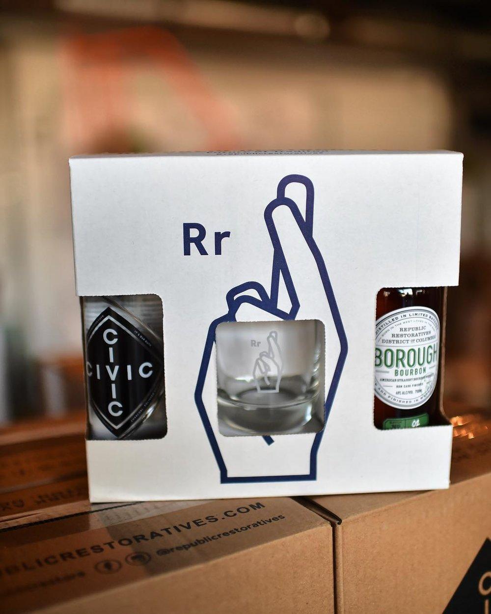 The Tradition Kit (includes Borough Burobon, CIVIC Vodka, a custom tasting glass, and recipe cards)
