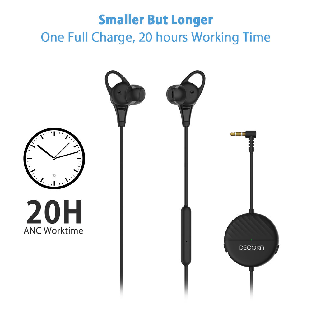 20 HOURS PLAYTIME -  Enhanced battery life, enjoy 20 hours of continuous music playback or voice chat with ANC on per 2 hours of charge, meet all day needs