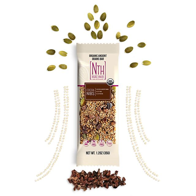 Brimming with superfoods like amaranth and pumpkin seeds, our Cocoa Nibs bar is nutritious and delicious.⁣ .⁣ .⁣ .⁣ #nextlevelsnacking #nthdegreesnacks #cocoanibs #superfoods #healthybars #onthego #healthyliving #iamwellandgood #realfood #amaranth #pumpkinseeds #snacking #plantbased #feedyourglow #thehappynow