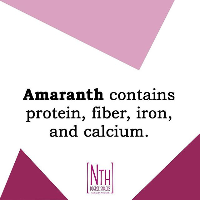 The ultimate superfood! ✨ Fuel your body with this nutrient dense and naturally gluten-free seed. . . . . #nthdegreesnacks #amaranth #ancientgrain #glutenfree #proteinpacked #fiber #calcium #superfood #healthybars #snacking #onthego #realfood #feedyourglow #nourish #plantbased