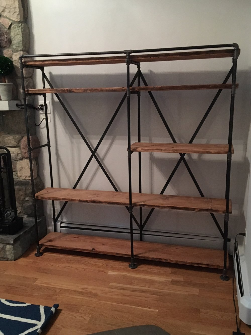 iron wood shelving unit.JPG
