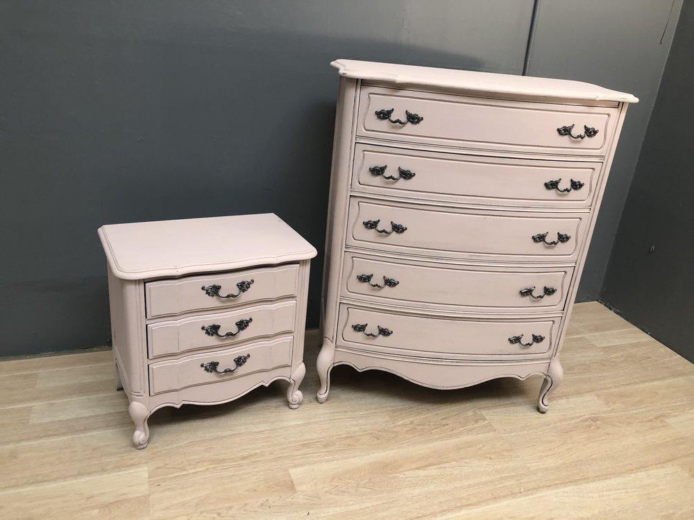 Solid Wood Thomasville Blush French Provincial Dresser Set Coop