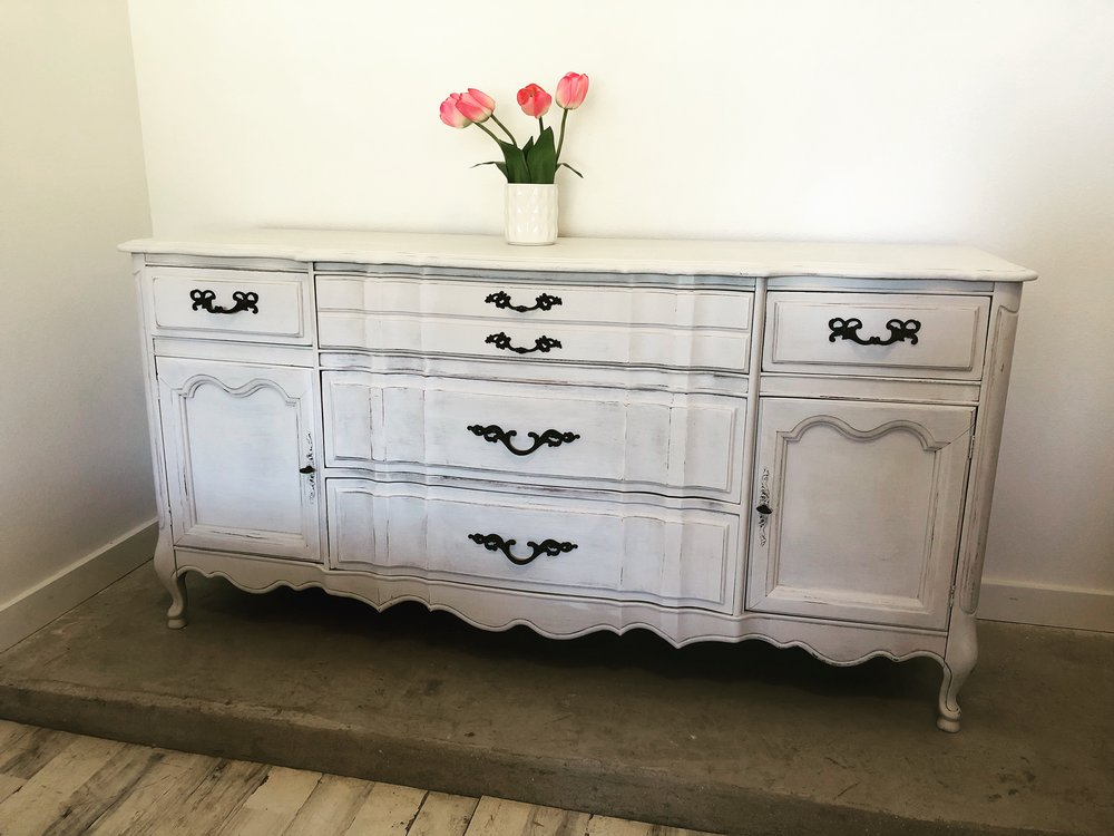 French Provincial Solid Wood Buffet Coop Designs Co