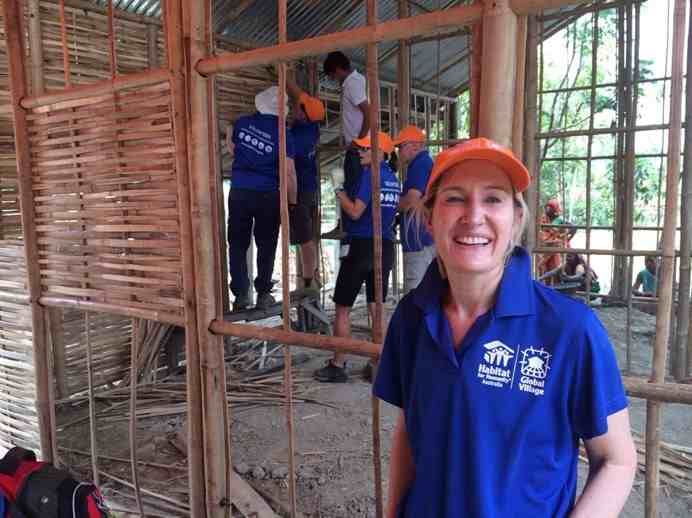 Dr Liz Dawes-Higgs travelled to Nepal to help build a home for a woman who was recently widowed.