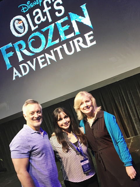 I had the opportunity to meet Kevin Deters and Stevie Wermers, directors of Olaf's Frozen Adventures, an upcoming featurette which will be in theaters on November 22, 2017. They shared many fun details about what it was like to work on this film, including hints about hidden Mickeys within the film!