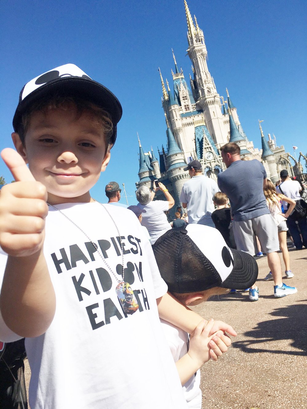 Happiest Kid on Earth during a visit to Walt Disney World in 2017.