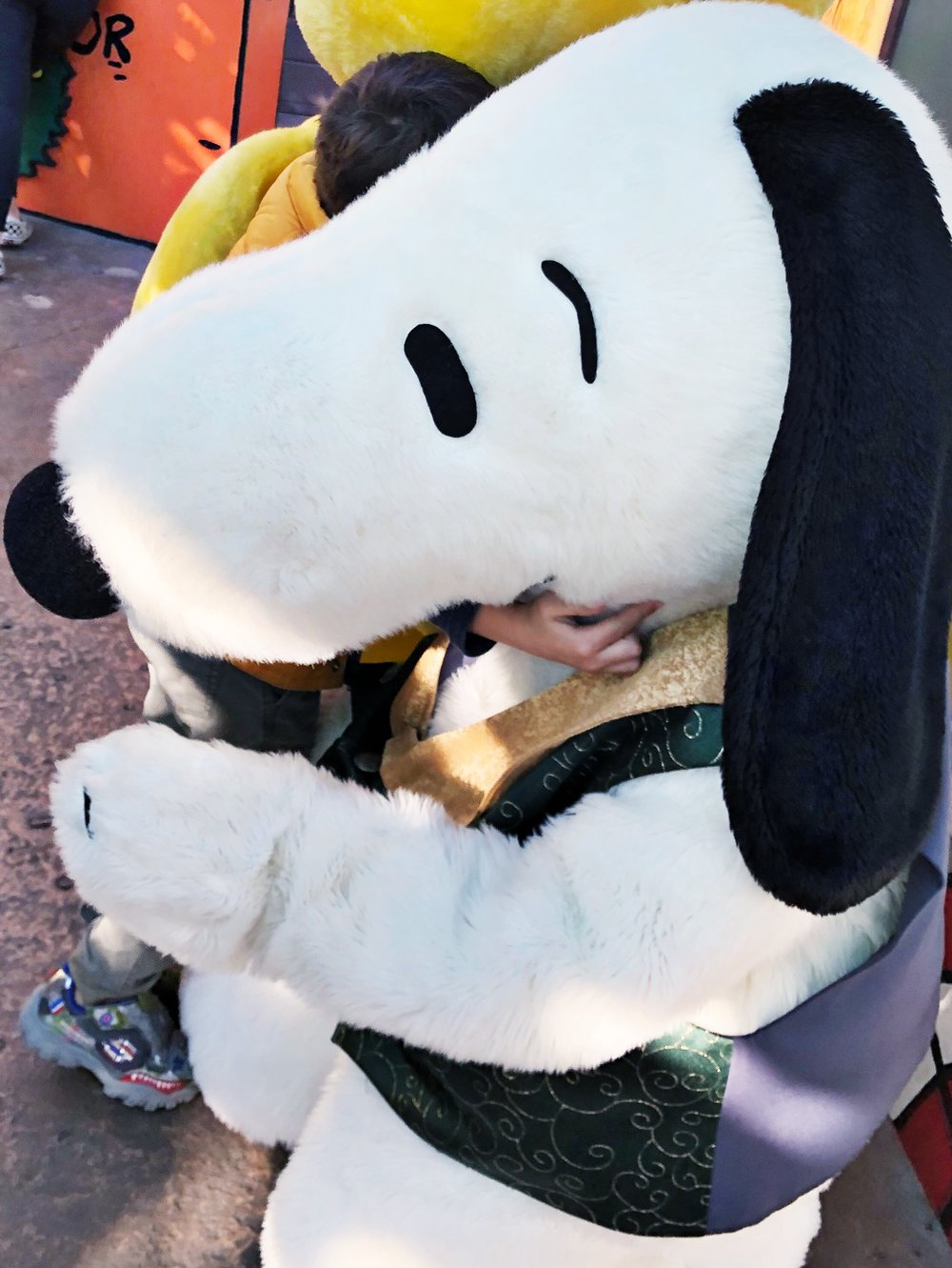 A Bear hug for Benny from Snoopy