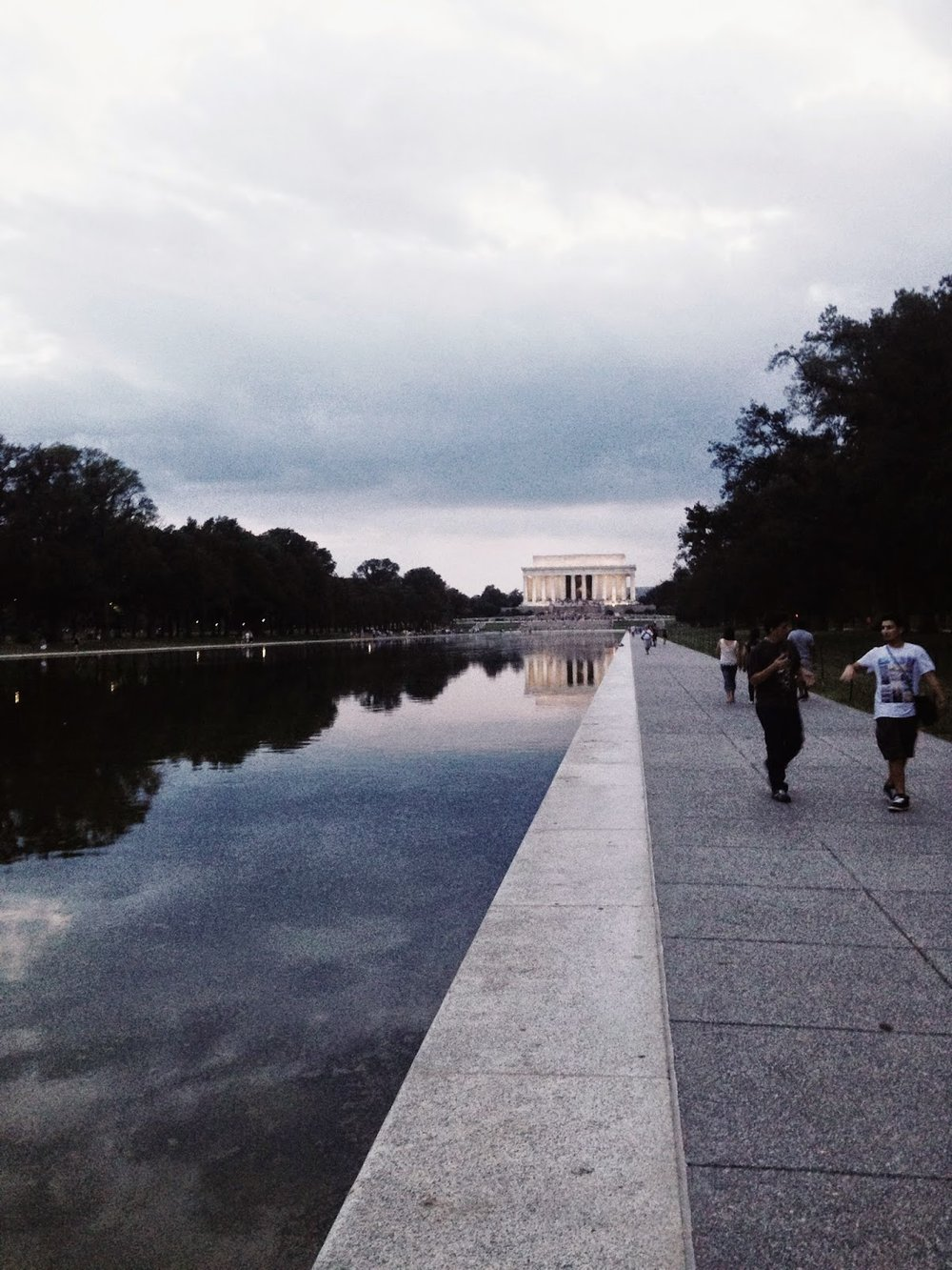 Photo of the National Mall in Washington D.C. during an afternoon run back in 2014