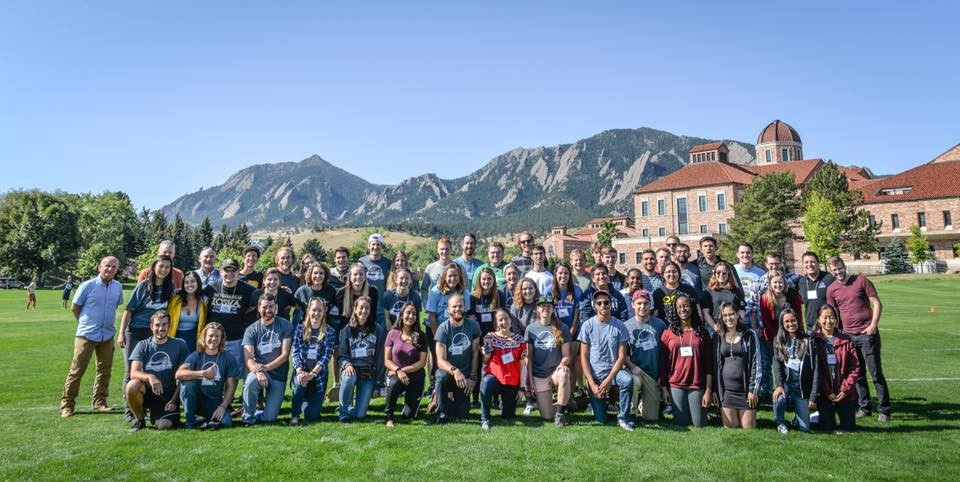 Many of the EIA Bridge Program attendees at our bridge conference in Boulder, Colorado. Photo Credit: Madison Sankovitz