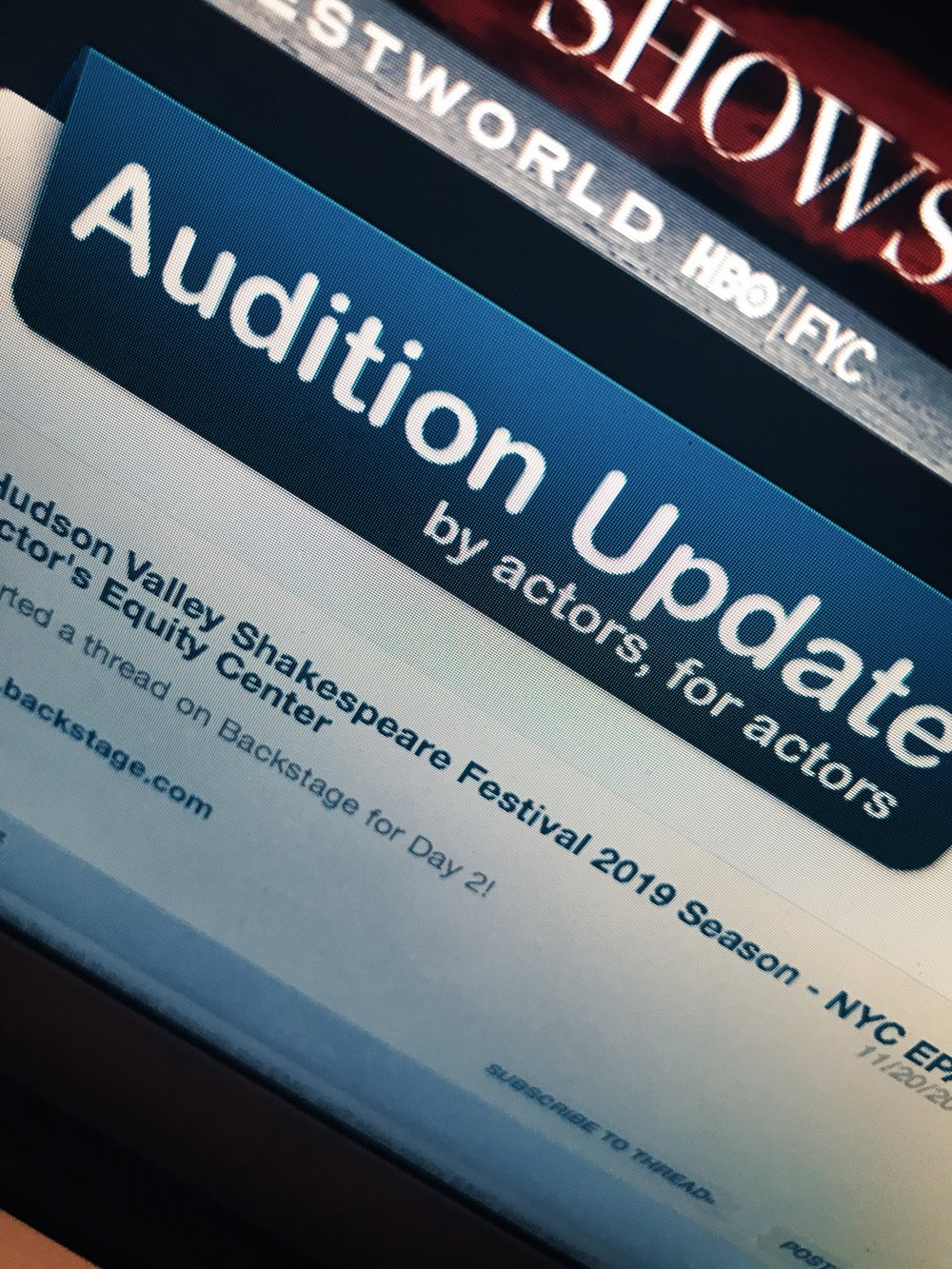 Audition Update