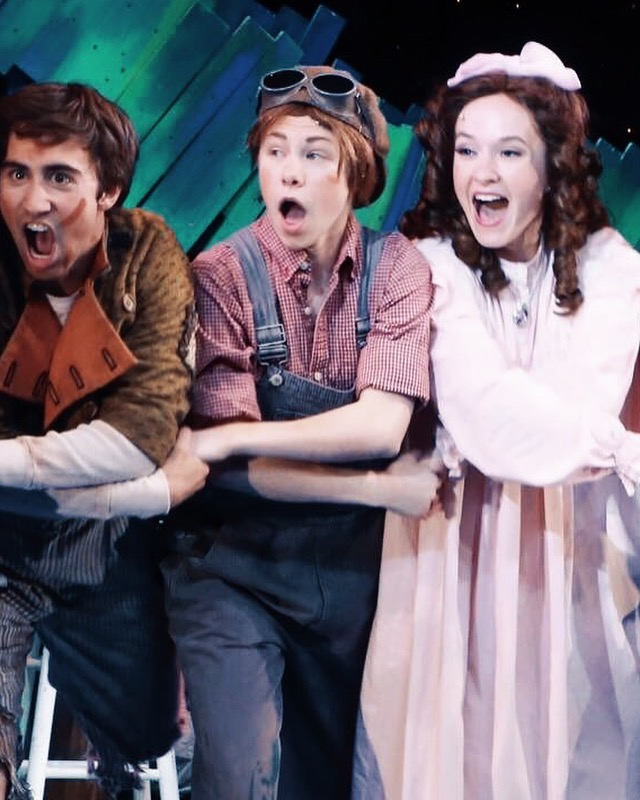 Candid photo of  Peter Pan  at Connecticut Repertory Theatre where I earned EMC points playing Wendy Darling (pictured right)