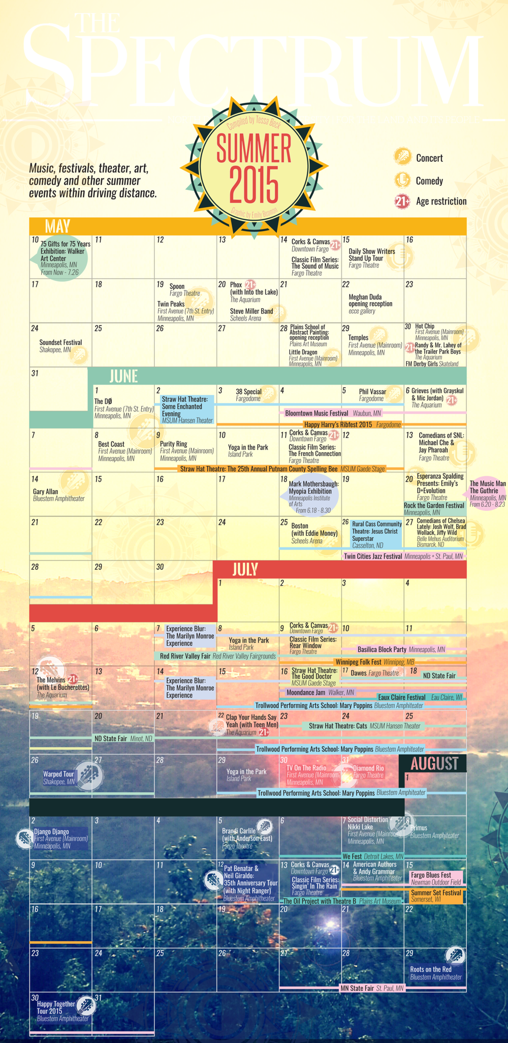 - 2015 Summer Regional Events Calendar
