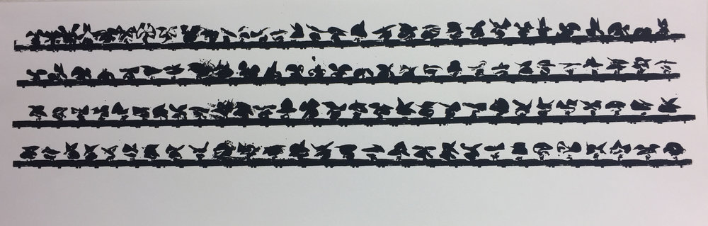 - Serpentine Variations IV, serigraph