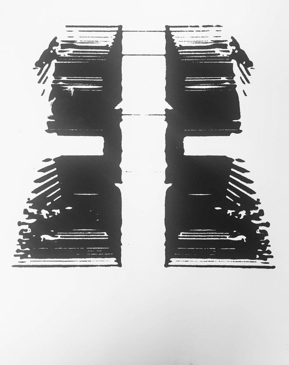 - Algorithm Inkblot I, serigraph