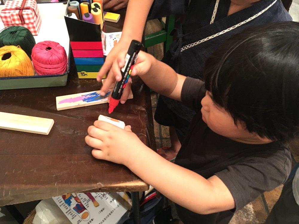 息子は、お兄ちゃん先生に教えてもらって、カタカタ作に挑戦。