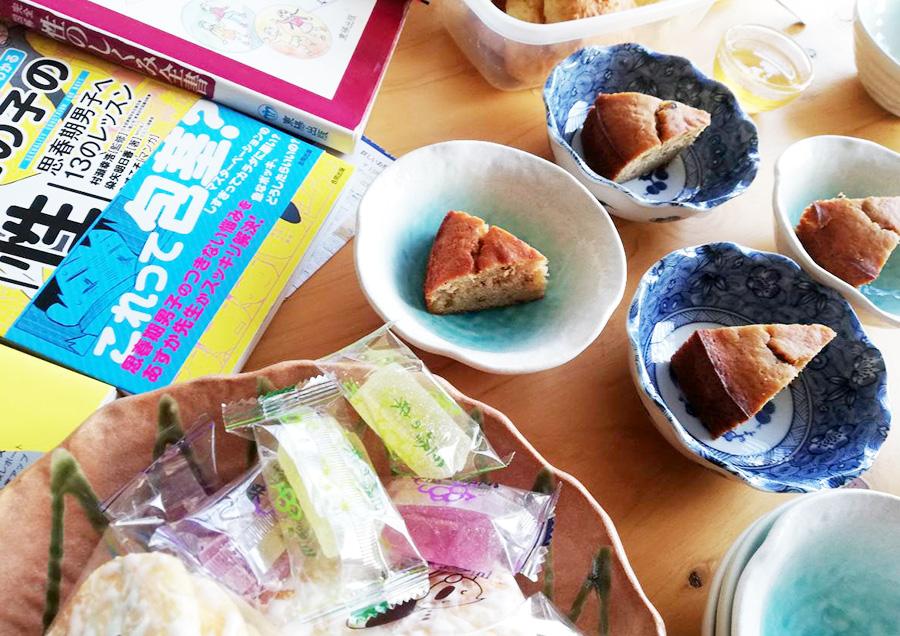 参加者の方が手作りの低糖質ケーキを作ってきてくれました!!う、うれしい。