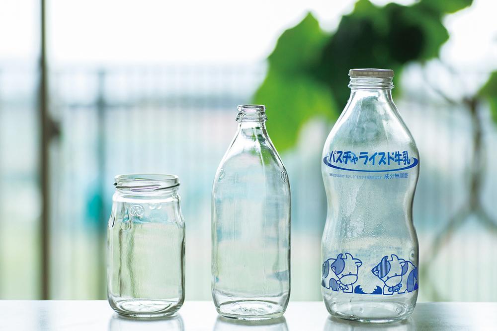 ビンはほとんどがリユースされる。「卵のパックや配達のビニールも回収されるので、随分とゴミが減りました」