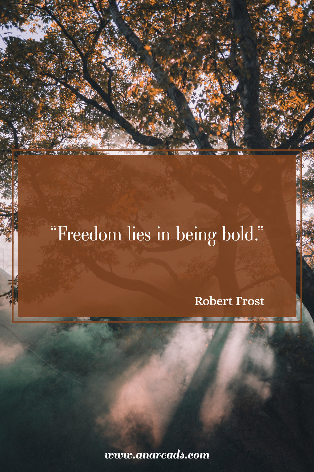 freedom lies in being bold robert frost