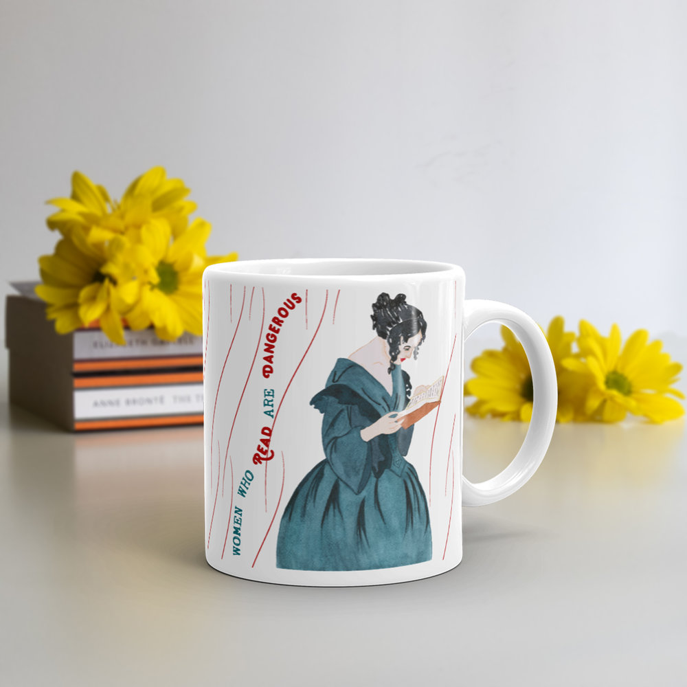 feminist mug-feminist gift-girl power-gift for book lover