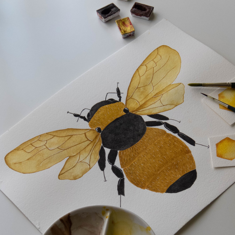 bee illustration-gift for reader