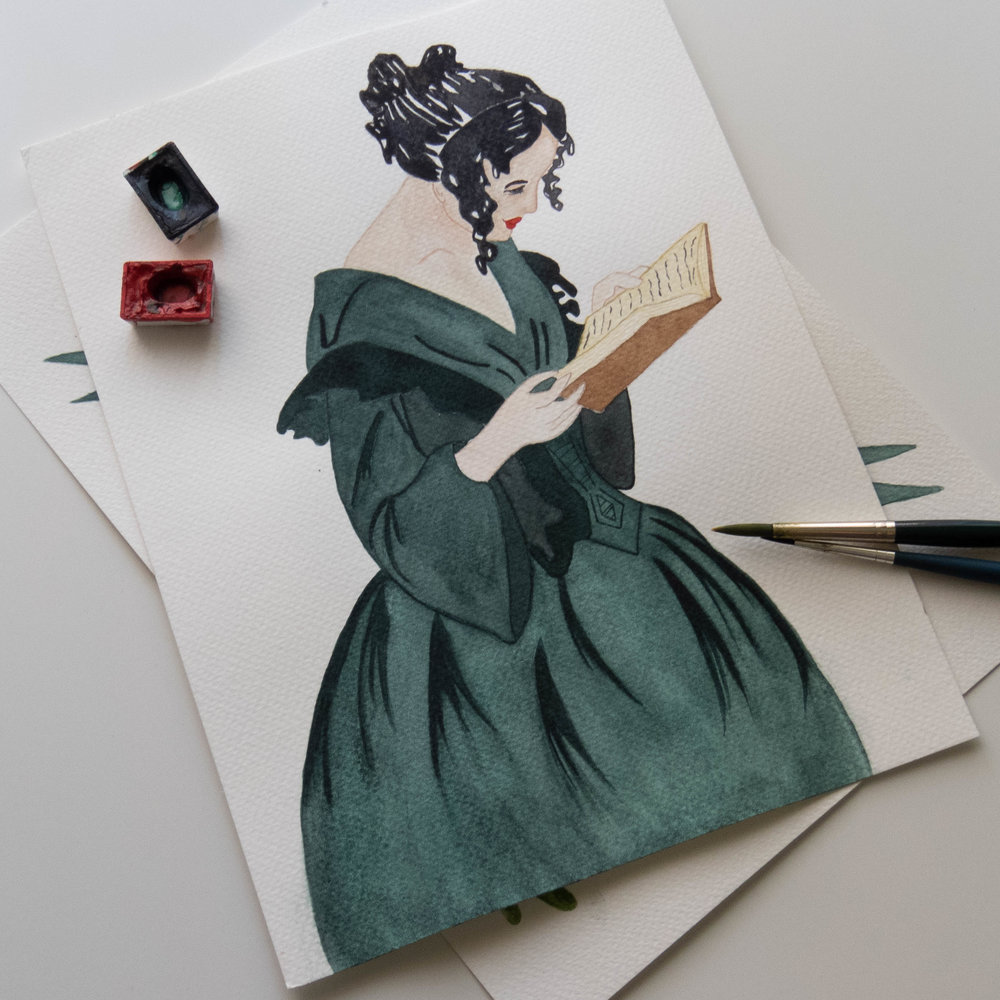 women reading a book illustration feminist