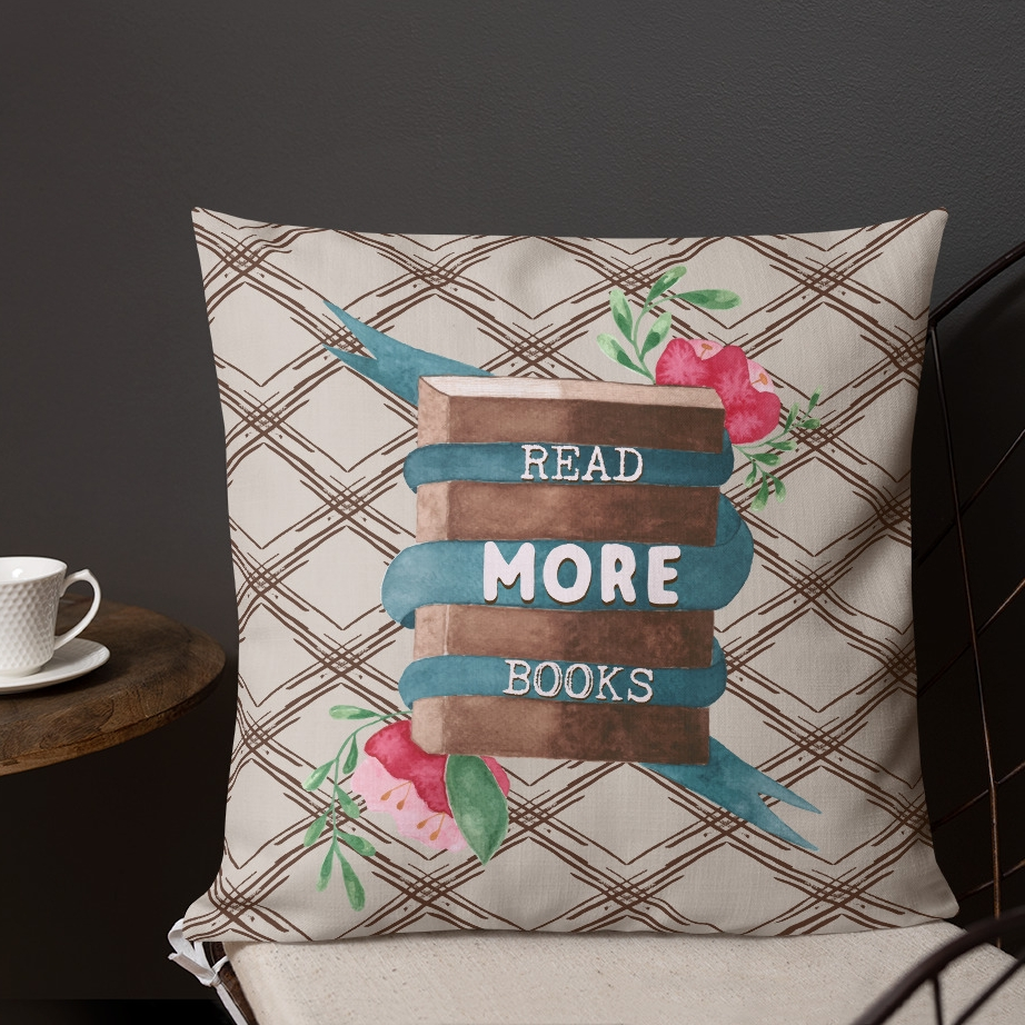 read-more-books-pillow