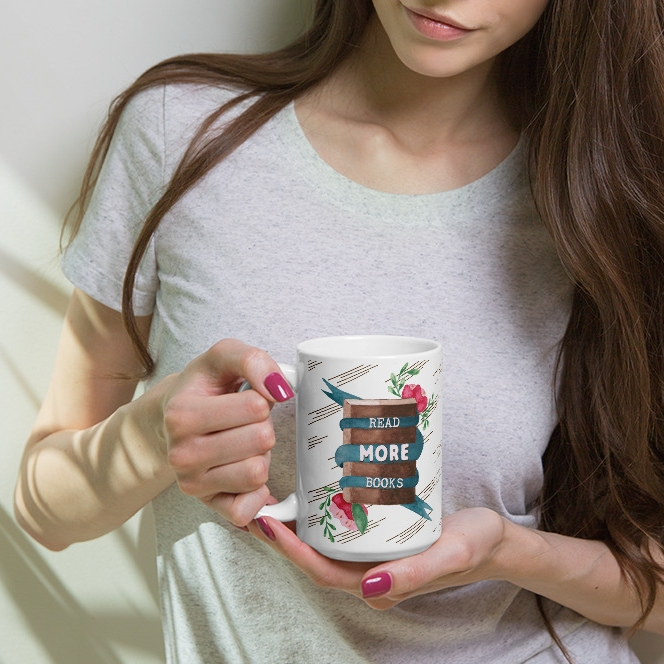 read more books mug for book lovers