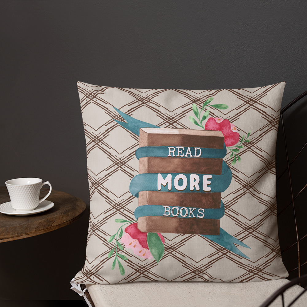 read more books pillow for books lovers