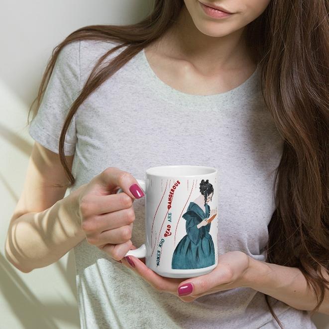 women who read are dangerous - feminist gift mug