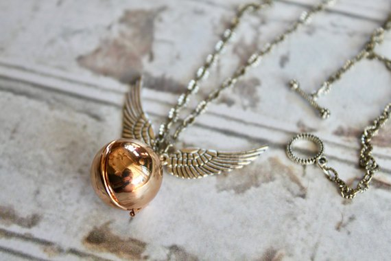 harry potter locket necklace bookish gift
