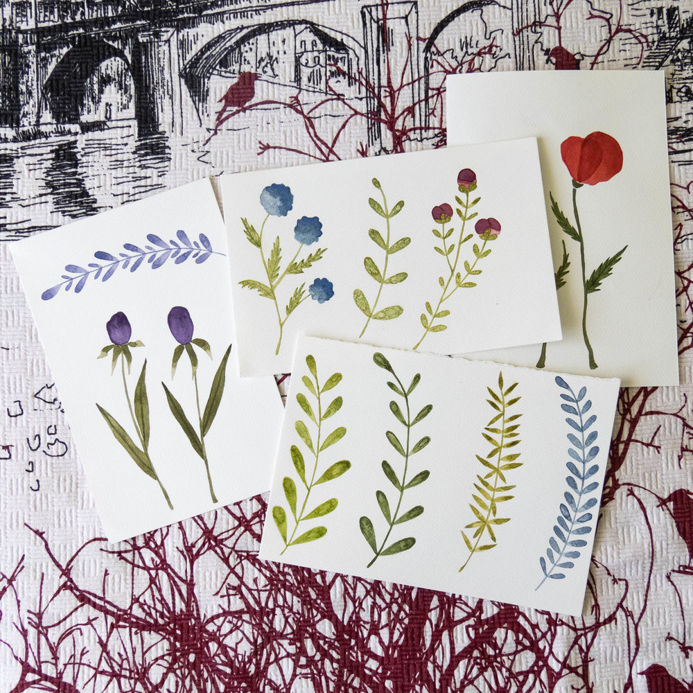 watercolor florals illustration