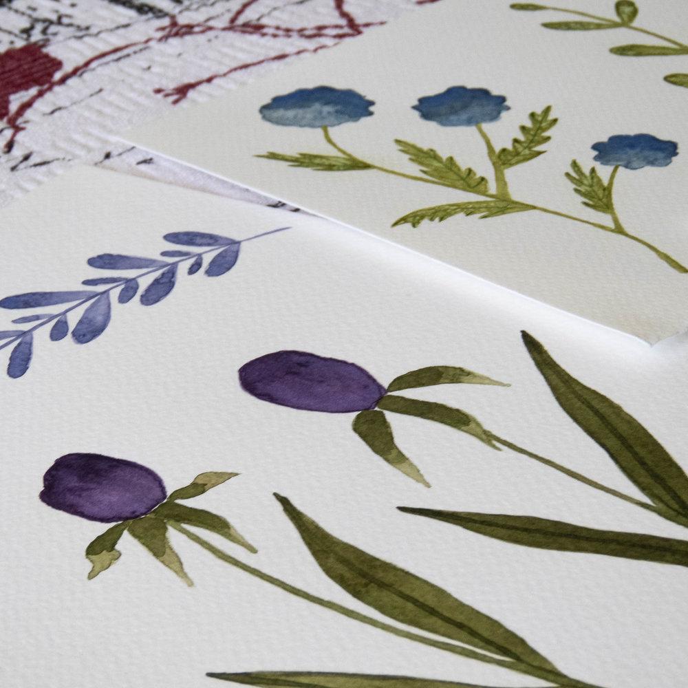 watercolor wild florals