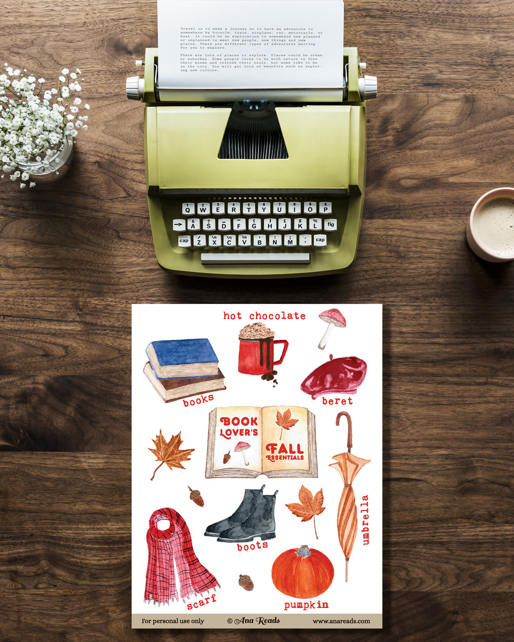 fall autumn free planner stickers