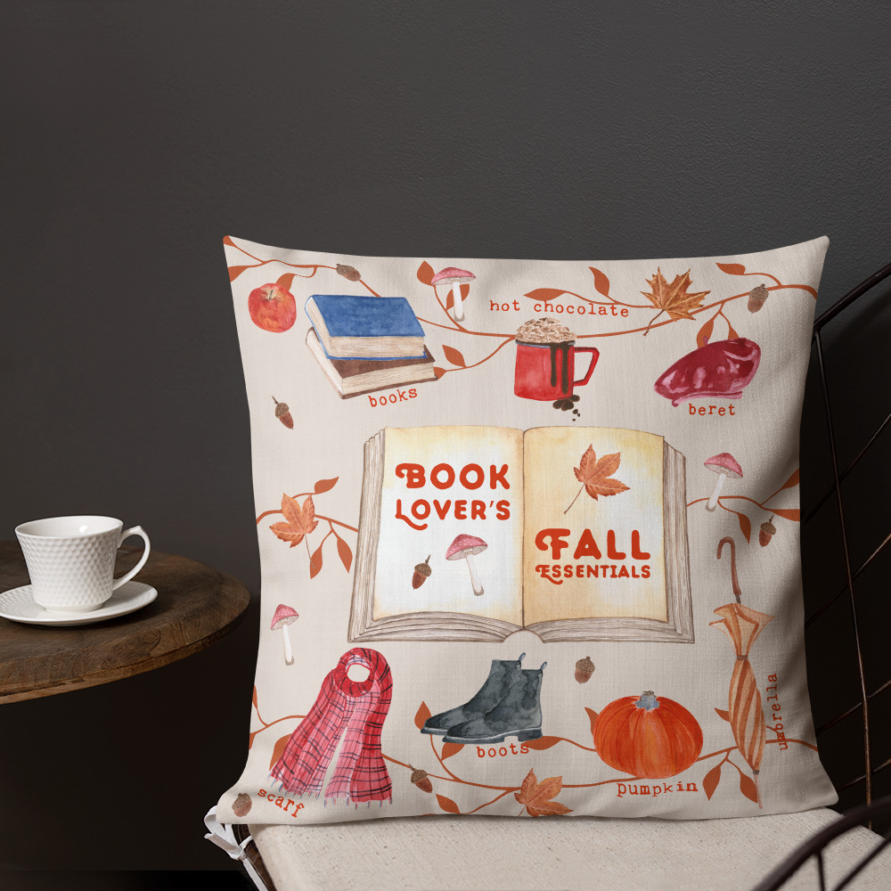 fall lover pillow for book lover - autumn essentials