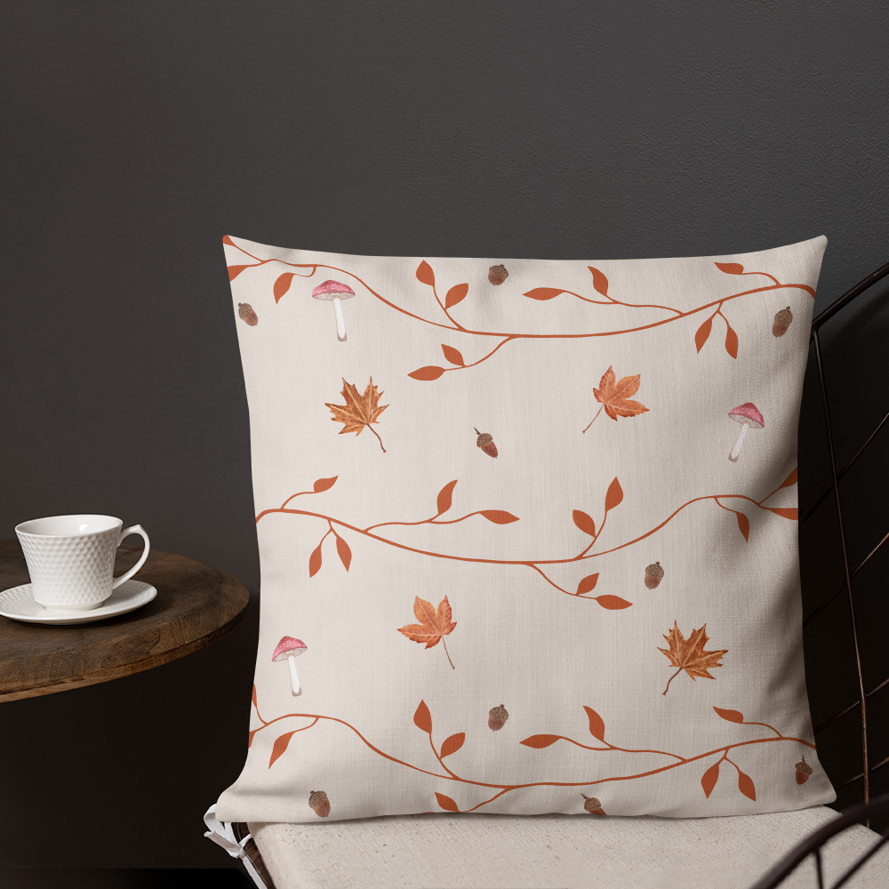 fall essentials for a book lover throw pillow