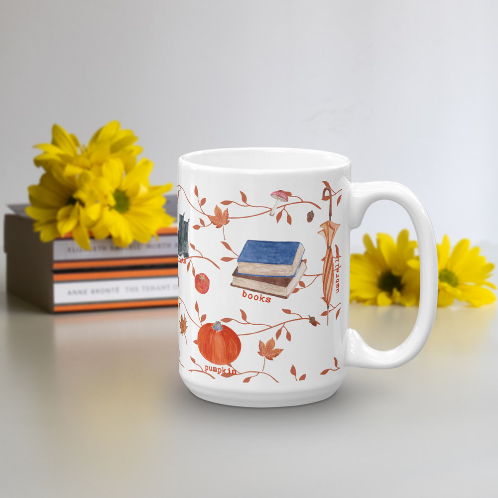 fall essentials for book lover tea lover mug