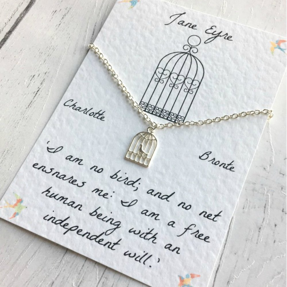 Jane Eyre Necklace - Sterling Silver/Silver Plated, Charlotte Bronte
