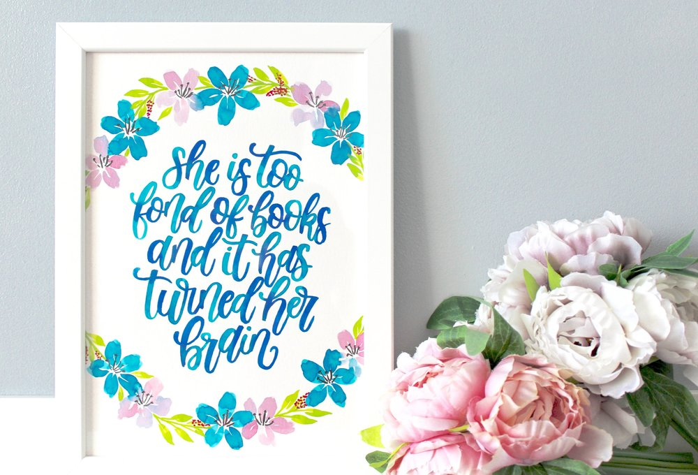 Framed Little Women Quote, Little Women Book Quote, Little Women Quotes