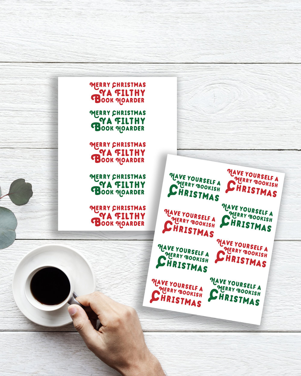 Winter Stickers Christmas Sayings Merry Christmas Happy Holidays