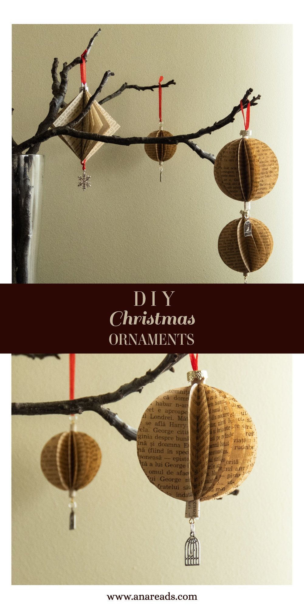 diy book pages baubles