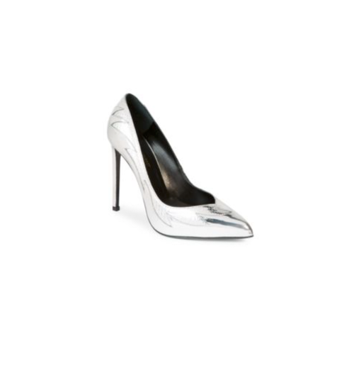 783e7b74c20 Saint Laurent Paris Silver Pumps — High End Outlet