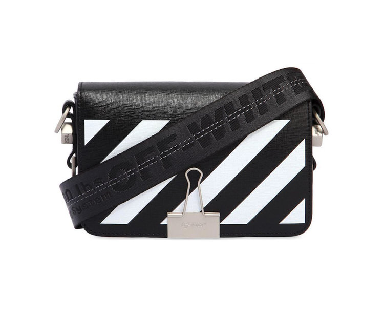 9b67f9767 Off-White c/o Virgil Abloh Black Mini Diagonal Stripes Leather Bag ...