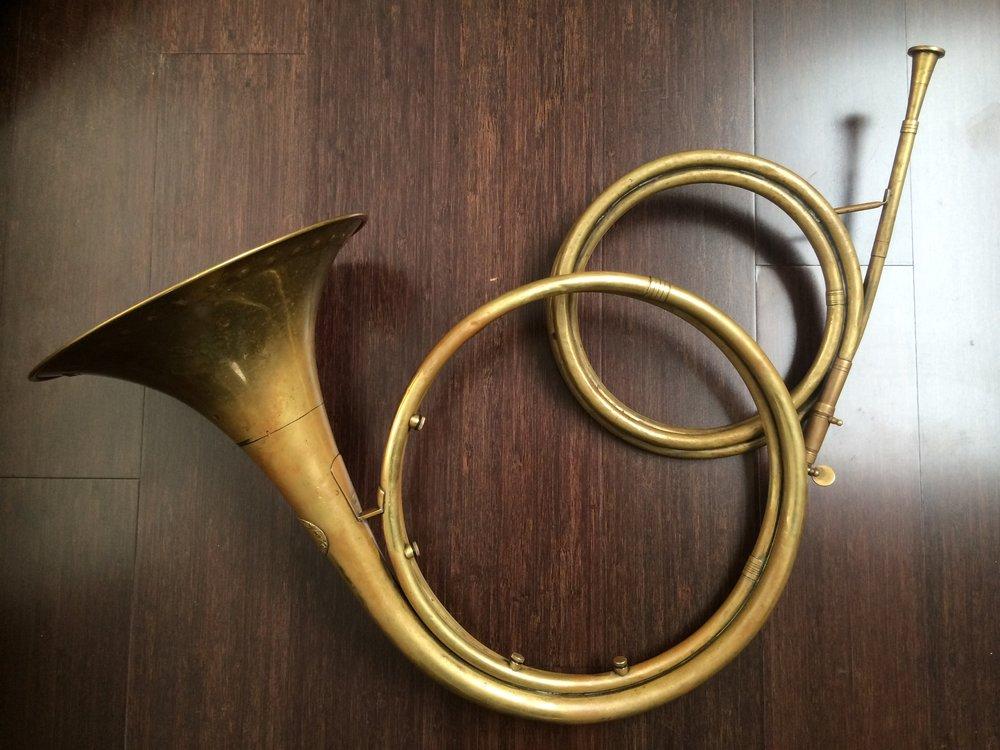 Webb/Halstead  baroque horn .