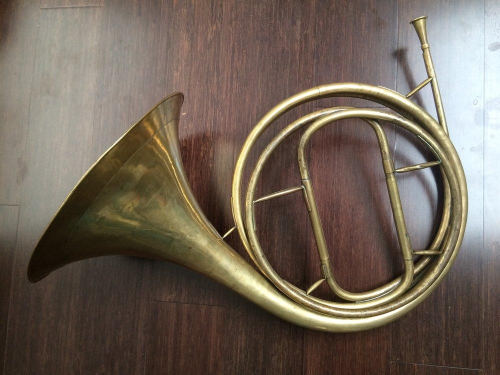 Lucien Joseph Raoux (1753–1821) classical natural horn ( cor solo ),  c. 1810.